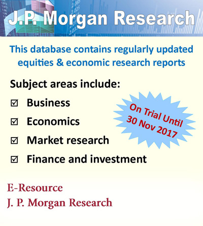J.P. Morgan Research - On trial until 30/11/2017