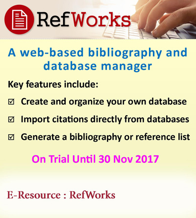 RefWorks - On trial until 30/11/2017