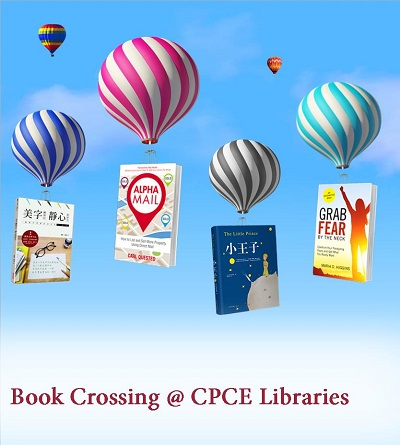 "Book Crossing @ CPCE Libraries ""Drop a Book Off, Pick a Book Up"" 漂書 @ CPCE Libraries ""送一本書,取一本書"""