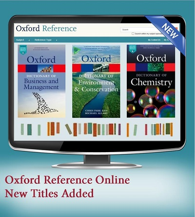 New titles added to Oxford Reference Online