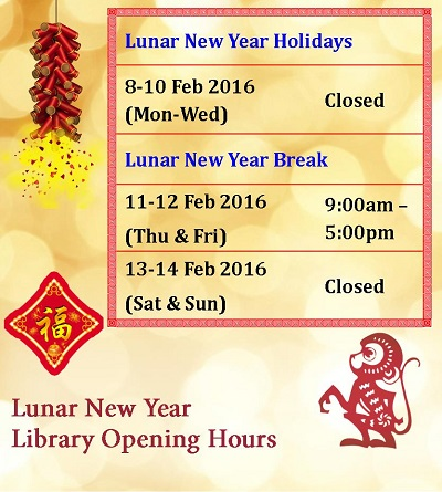 Lunar New Year Holiday