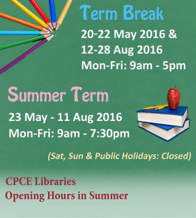 Library Opening Hours in Summer